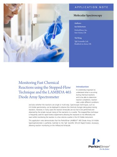 Monitoring Fast Chemical Reactions Application Note
