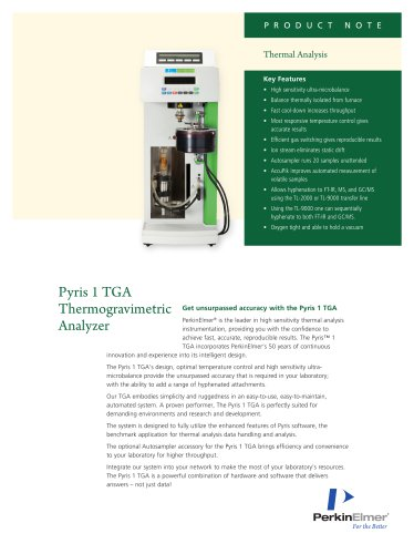 Pyris 1 TGA Thermogravimetric Analyzer