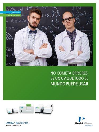 Spanish - LAMBDA™ 265 / 365 / 465 UV/Vis Solutions Brochure