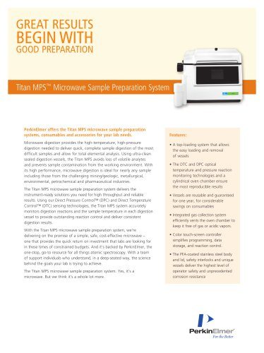 Titan MPS™ Microwave Sample Preparation System