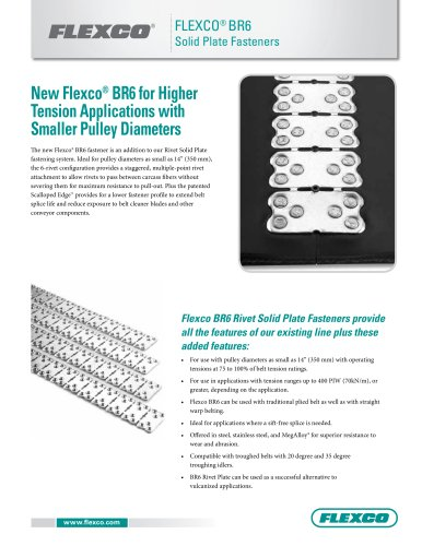 Flexco® BR6 Solid Plate Fasteners