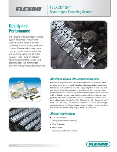 Flexco® SR Rivet Hinged Fastening System