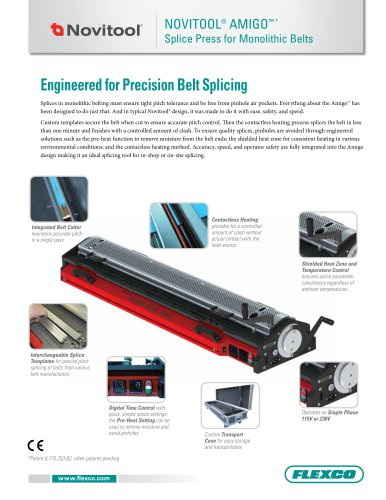 NOVITOOL® AMIGO™ * Splice Press for Monolithic Belts