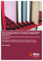 Mink Transportlösungen - zum zuverlässigen Fixieren und Sichern empfindlicher Oberflächen