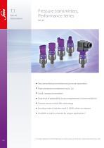 T.1 Pressure transmitters, Performance series