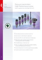 """T.4 Pressure transmitters Hex22 """"High-Performance"""""""