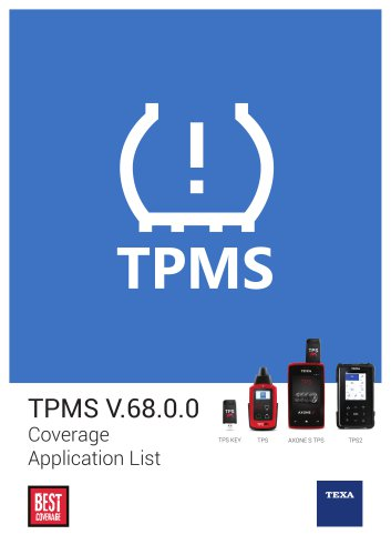TPMS - Coverage Application List