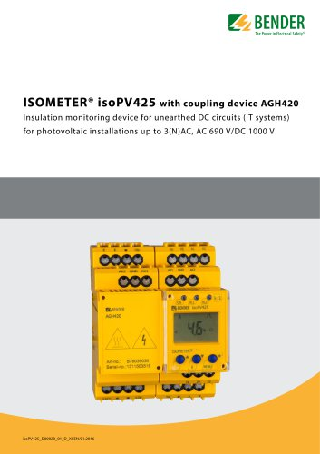 ISOMETER® isoPV425 with AGH420
