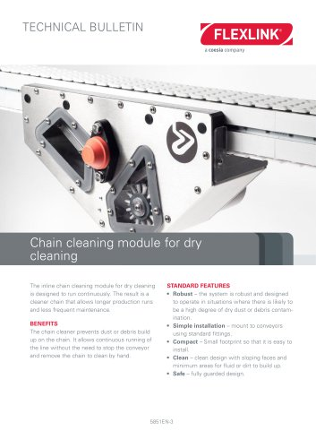 Chain cleaning module for dry cleaning