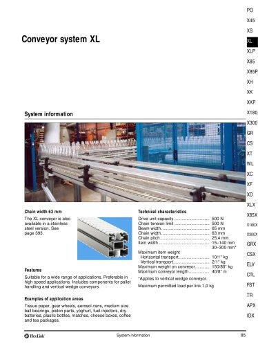 Conveyor System XL