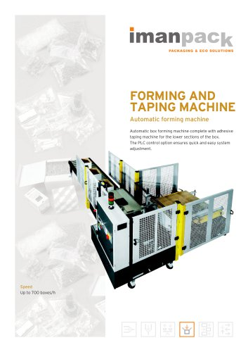 FORMING AND TAPING MACHINE