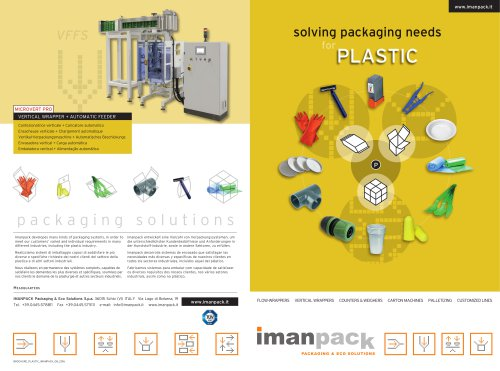 PACKAGING SOLUTIONS for PLASTIC