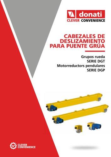 Unidades de deslizamiento para grúa – Serie DGP_DGT