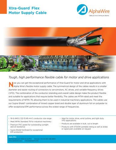 Motor Supply Cable