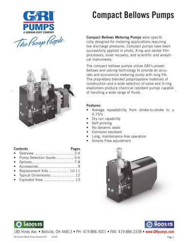 Compact Bellows Pumps
