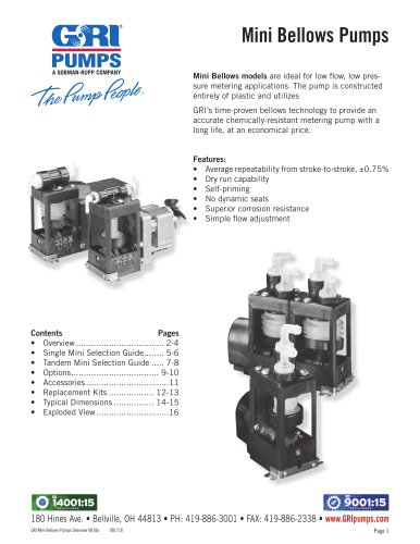 Mini Bellows Pumps