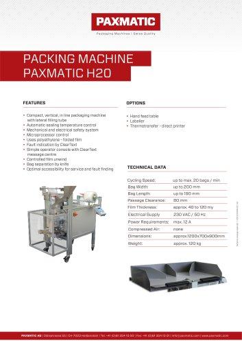 Packing machine H20
