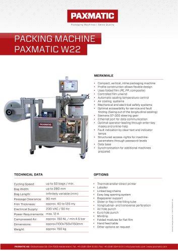 Packing machine W22