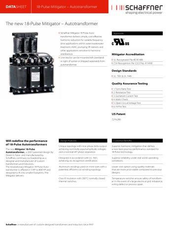 18-Pulse Mitigator – Autotransformer
