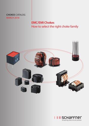 Chokes Catalog March 2018: EMC/EMI Chokes – How to select the right choke family