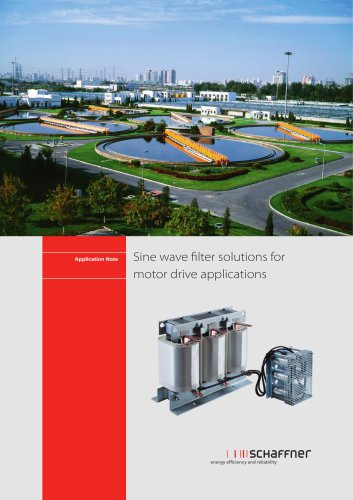 Sine wave filter solutions for motor drive applications