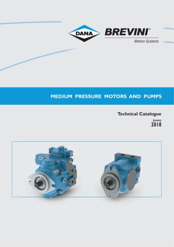 Medium pressure motors and pumps