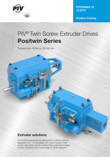 PIV® Twin Screw Extruder Drives Positwin Series