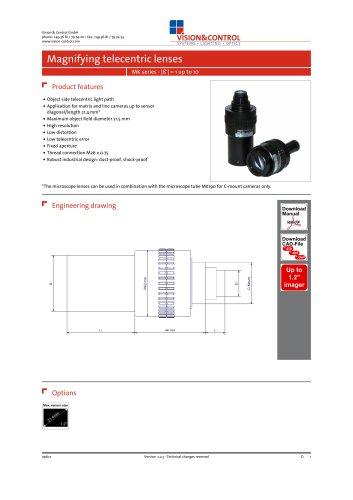vicotar® Magnifying telecentric lenses, MK series