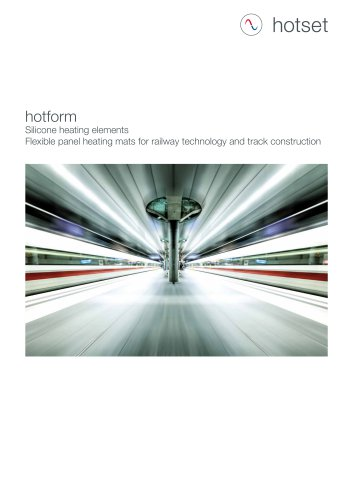 hotform Silicone Heating Elements - Railway construction, track and signal technology