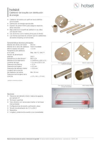 hotslot® Calefactor de boquilla con distribución