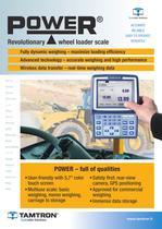 POWER wheel loader scale