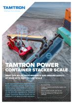 TAMTRON POWER CONTAINER STACKER SCALE