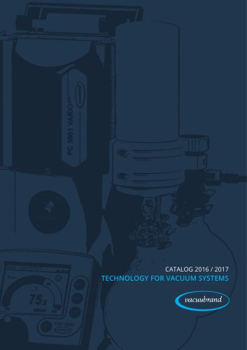 Technology for vacuum systems 2016/2017