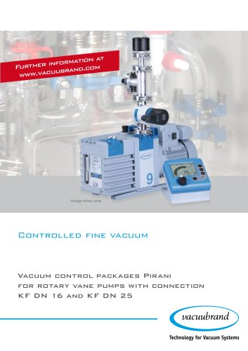 Vacuum control packages Pirani