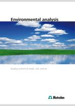 Environmental analysis – Quality control of water, soil, and air