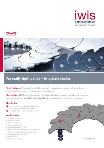 For really tight bends - iwis plate chain