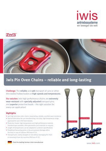 iwis Pin Oven Chains - Reliable and long-lasting