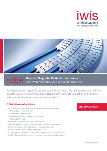 Maxxtop Magnetic Radial Corner Bends - Improved reliability with reduced pulsation