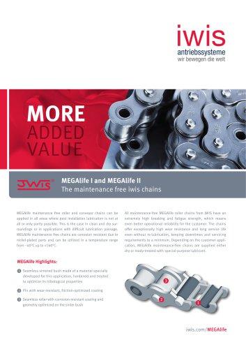 MEGAlife I and MEGAlife II - The maintenance free iwis chains