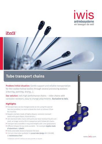 Tube transport chains