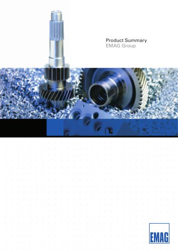 Product Summary EMAG Group
