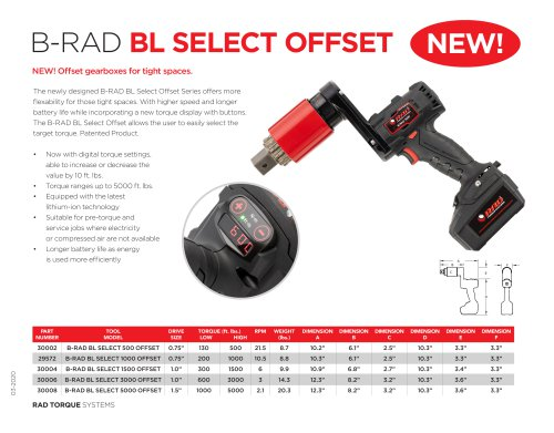 B-RAD BL Select Offset (Imperial)