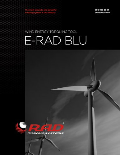 E-RAD BLU Series - Wind Turbine Bolting Solutions