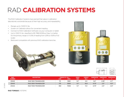 RAD CALIBRATION SYSTEMS