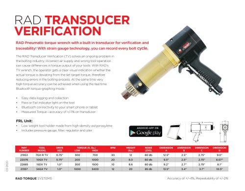 RAD Transducer Verification (Imperial)