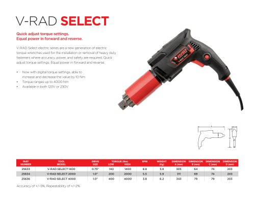 V-RAD Select (Metric)
