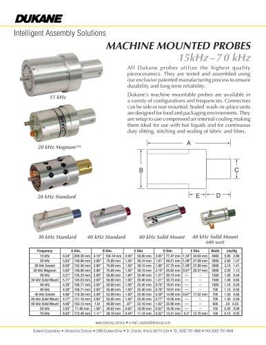15 kHz - 70 kHz Machine Mounted Probes
