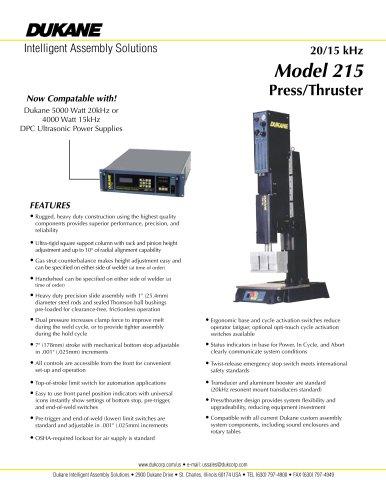 20/15kHz Model 215 Plastic Assembly System