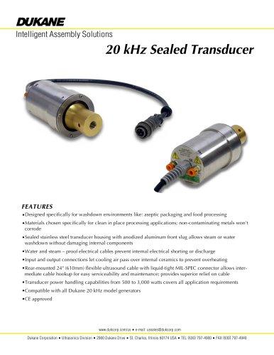 20 kHz Sealed Transducer