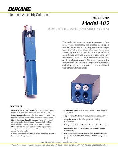 40 kHz Model 405 remote thruster system